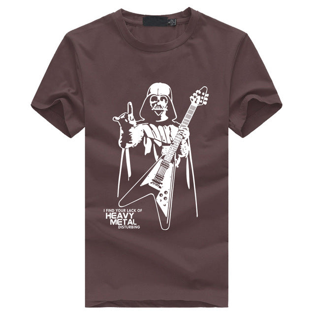 Heavy Metal Vader T-Shirt (Brown/White)
