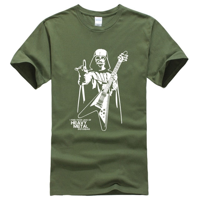 Heavy Metal Vader T-Shirt (Army Green/White)