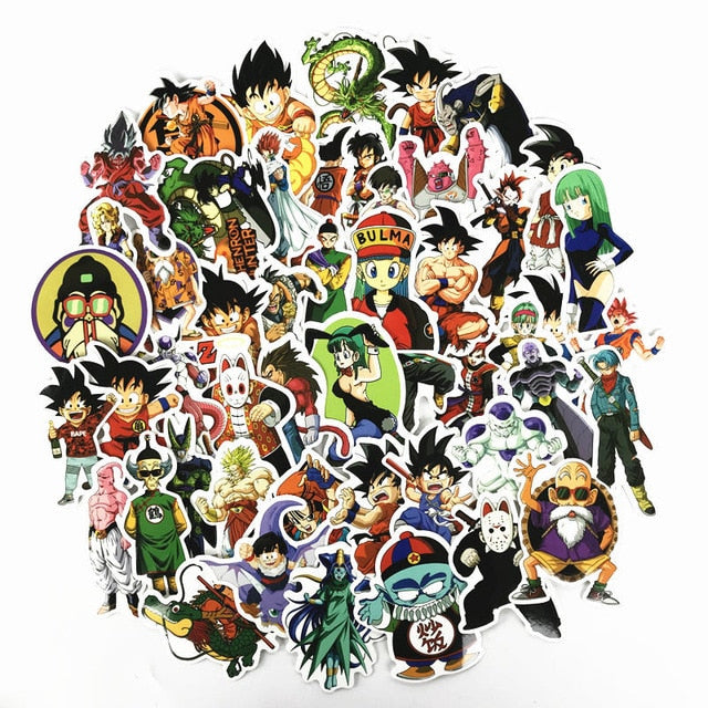 50 Piece Dragon Ball Stickers (Style 2)