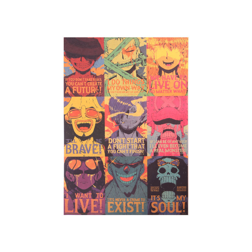 One Piece Specialty Straw Hat Pop Art Wall Poster
