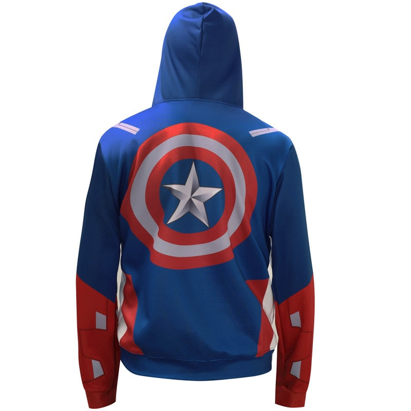 Captain America Hoodie (Style 2)