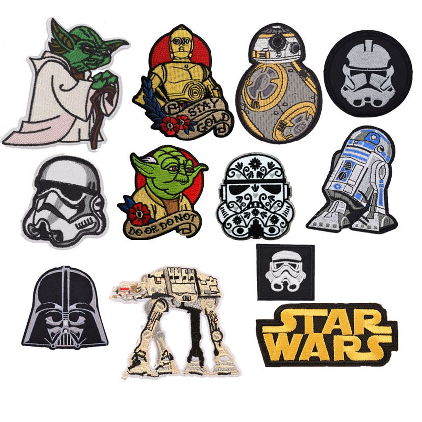 Star Wars Iron on Embroidered Cloth Patches