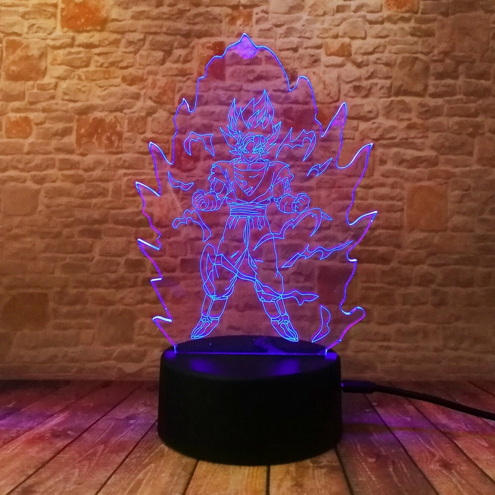 Power Up Goku LED Lamp