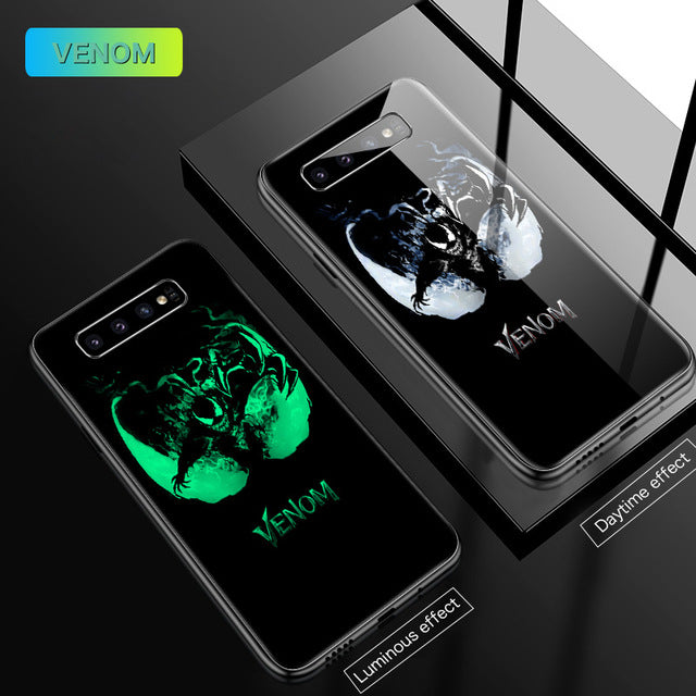Venom Luminous Glass Samsung Phone Case