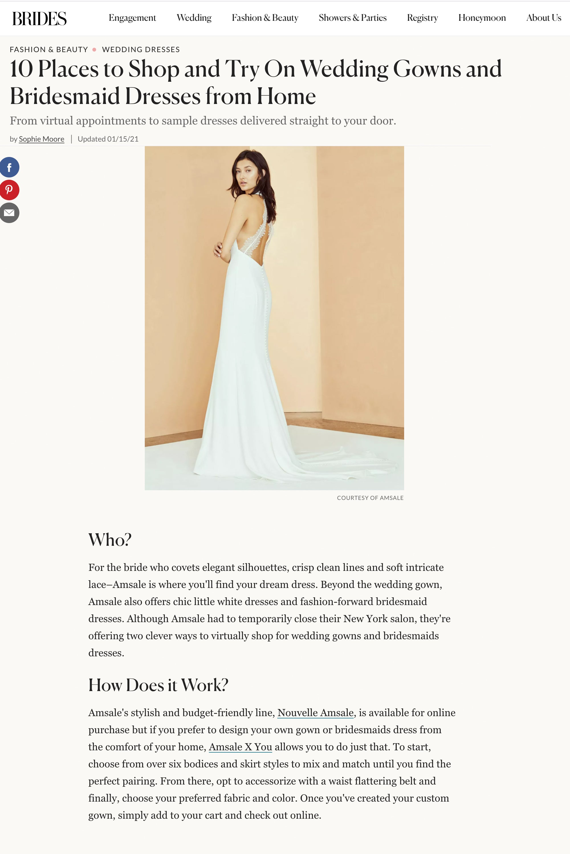 Try On Wedding Gowns and Bridesmaid Dresses from Home – Amsale