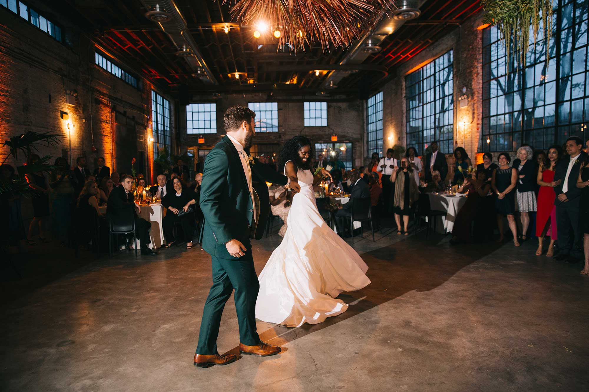 First Dance, Faille A-line Gown with Gathered Tiers