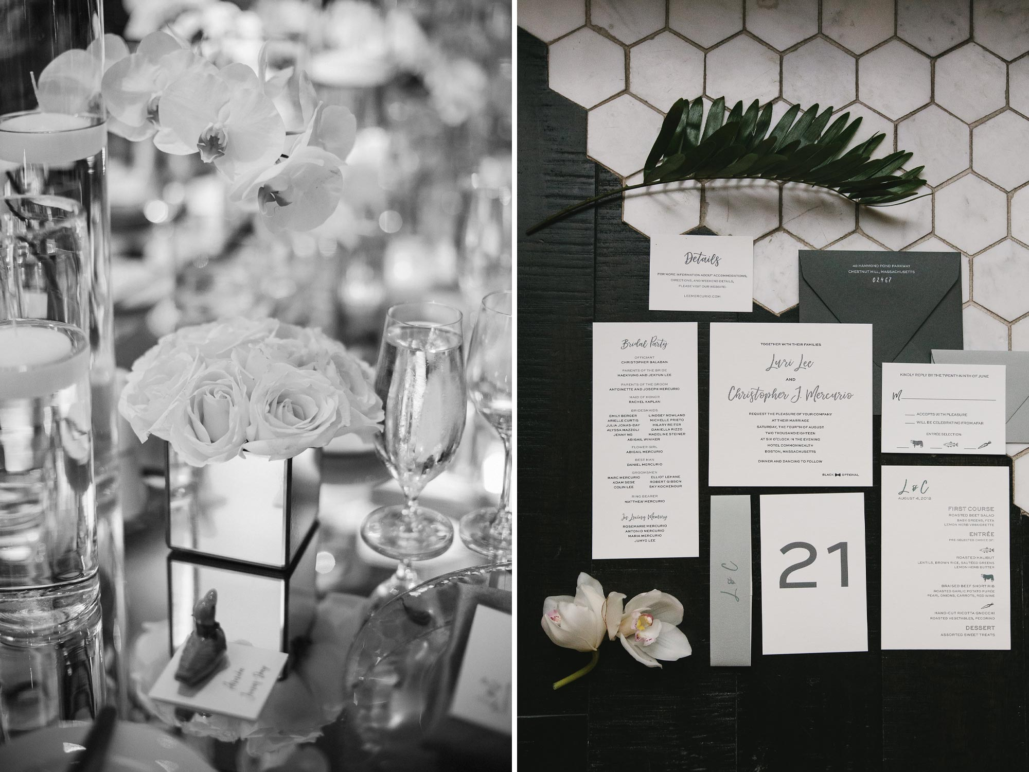 Korean Traditions Wedding Table Decor and Florals