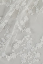 Load image into Gallery viewer, R359V - Butterfly Cathedral length drop veil with Sakura blossoms
