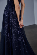 Load image into Gallery viewer, P375 - Embroidered tulle strapless gown