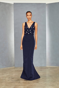 P352A - Embellished Bodice Gown