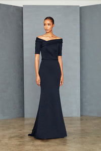P354P - Portrait Collar Gown