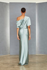 P359S - Draped Bodice Gown