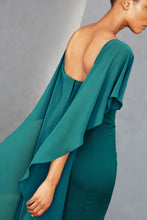 Load image into Gallery viewer, P357 - Off-the-shoulder Cape Gown