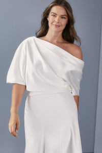LW154 - Draped Bodice Dress