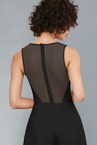 LW136 - Sheer back Jumpsuit