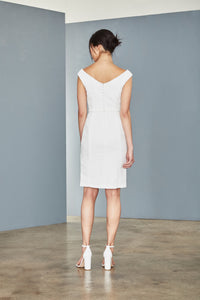LW148 - Faille Bateau Neck Dress