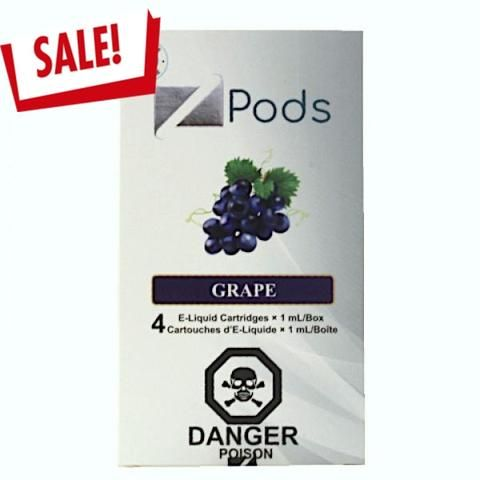 GRAPE COMPATIBLE Z PODS BY ZIIP PODS (4 PACK)