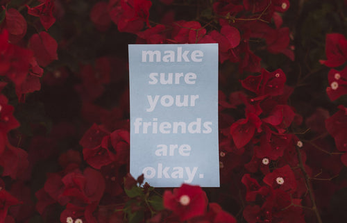Make Sure Your Friends Are Okay.