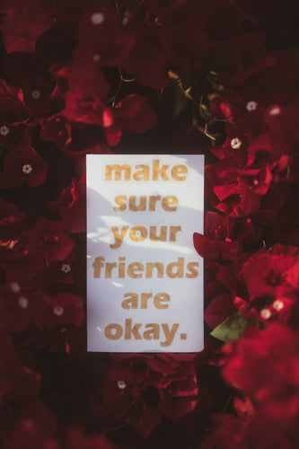 Make Sure Your Friends Are Okay. - Gold Leaf