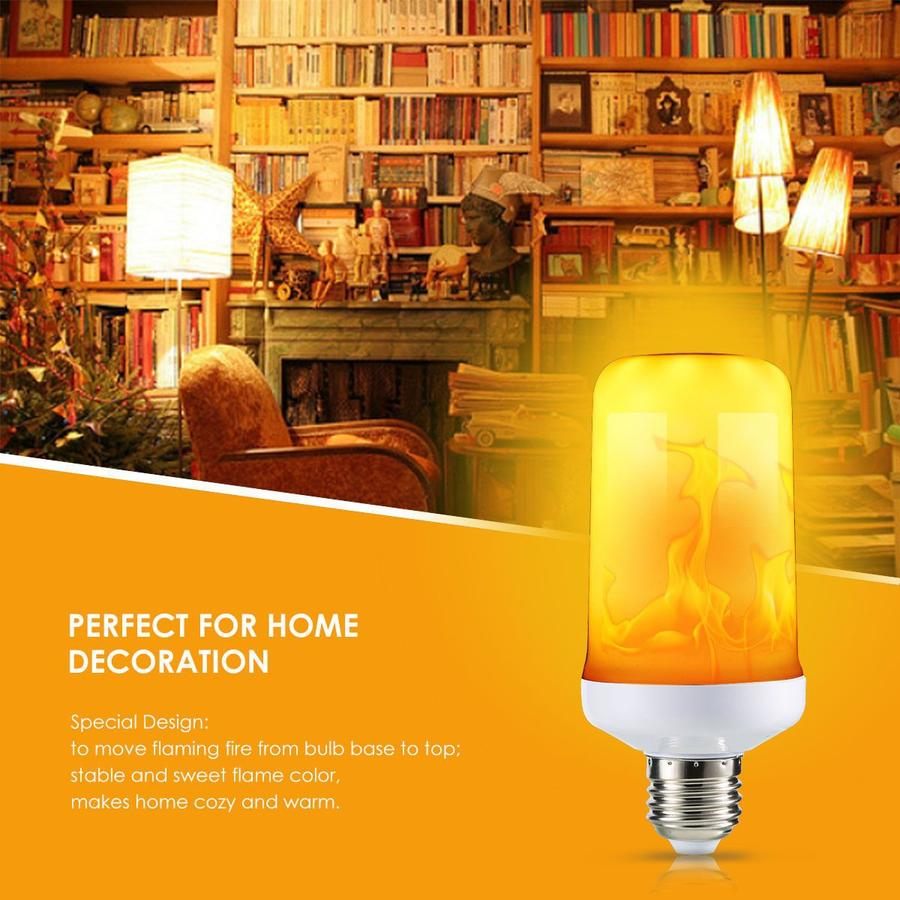 Buy four  Free Shipping!!!LED Flicker Fire Light Bulb