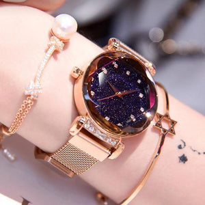 Ladies Watch New Fashion Star Watch With Unique Magnet Lock - 70% OFF Today