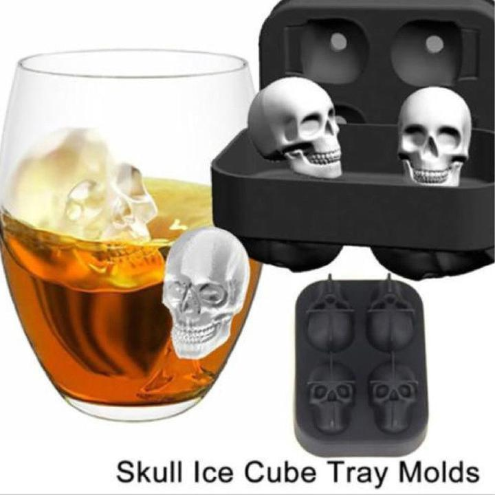 3D Skull Shape Ice Mold--The SECOND ONE ADDS $4