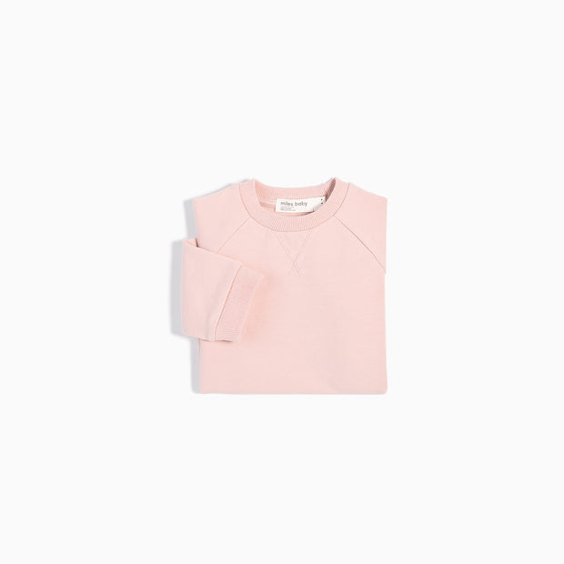 Crew Neck Sweater | Light Pink