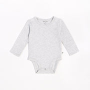 Heather Grey Long-Sleeve Onesie | Petit Lem