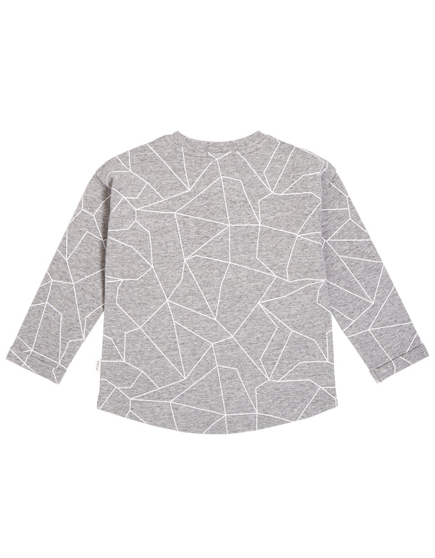 Long Sleeve Button Up | Grey