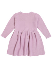 Long Sleeve Knit Dress | Light Purple