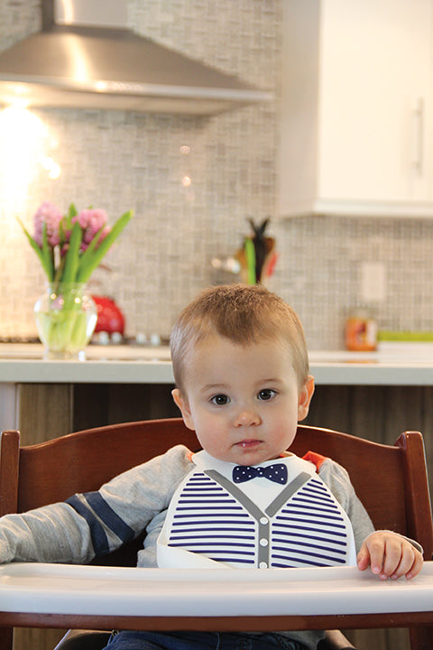 Soft Baby Bib | Little Gentleman, Baby Bibs, Make My Day, Inc - O&Lo