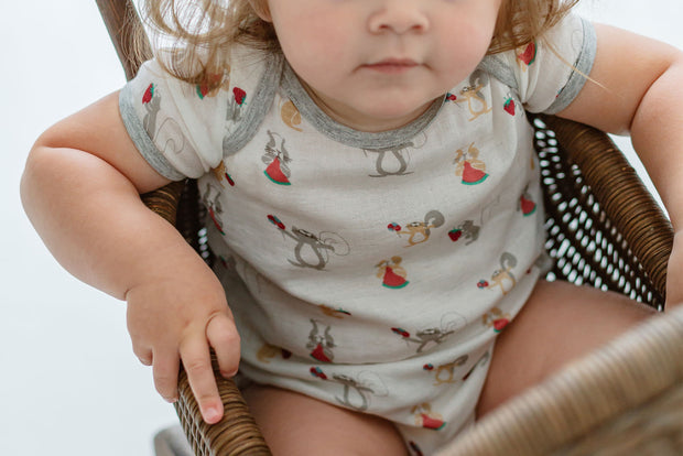 Bamboo Pima Short Sleeve Onesie | Squirrely