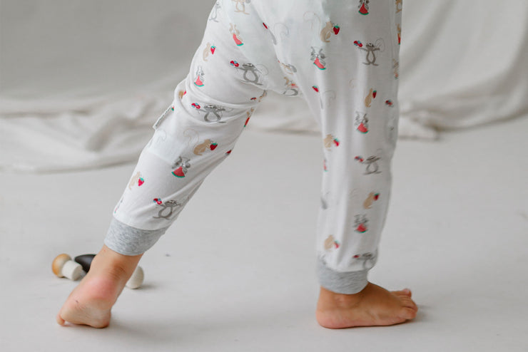 Bamboo Jersey One-Piece Zip Footless Sleeper | Squirrely