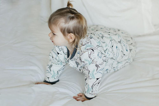 Organic Cotton Long Sleeve Winter Sleeping Bag | Orca White 3.5 TOG
