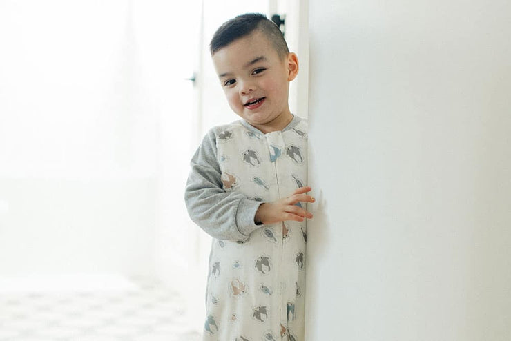 Raglan Bamboo Long Sleeve Sleep Suit | Otter Love 2.5 TOG
