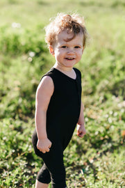 Bamboo Sleeveless Romper | Midnight, Rompers, Kyte Baby - O&Lo