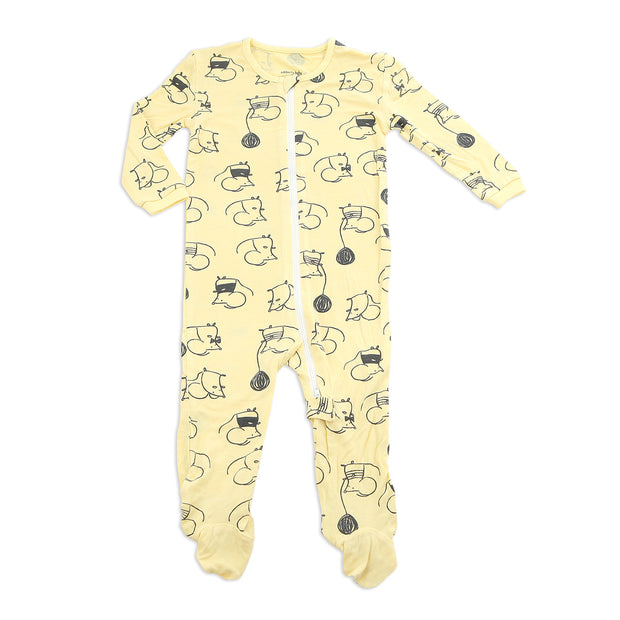 Easy Zipper Bamboo Footie | Mouse, Footies, Silkberry Baby - O&Lo