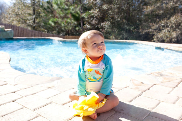 Rash Guard | Fishbowl Buddies, Swimwear, Zoocchini - O&Lo