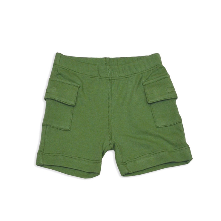 Bamboo Cargo Shorts | Lizard Green