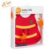 Soft Baby Bib | Fireman, Baby Bibs, Make My Day, Inc - O&Lo