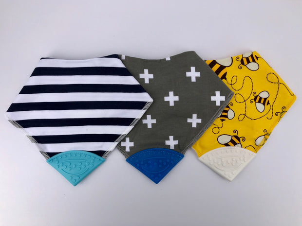 Teething Drool Bibs | Stripes