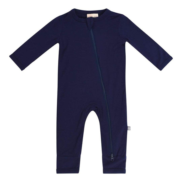 Bamboo Zippered Romper | Navy