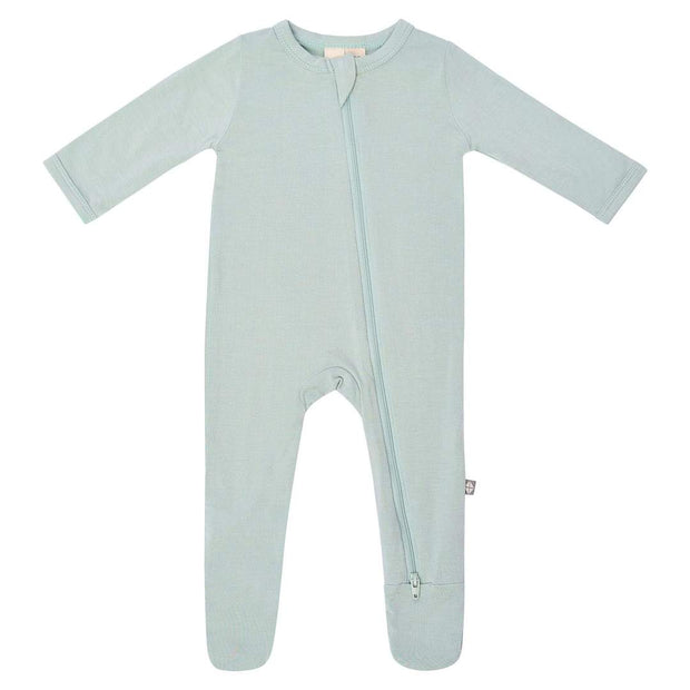 Bamboo Zippered Footie | Sage