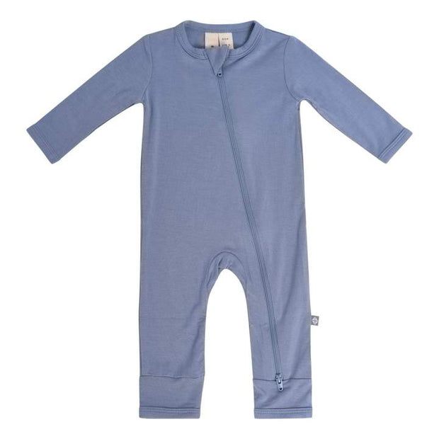 Bamboo Zippered Romper | Slate