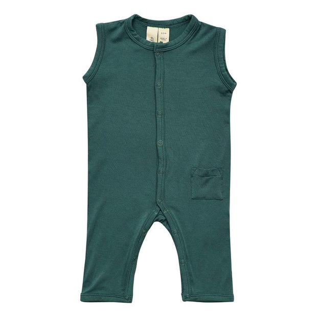 Bamboo Sleeveless Romper | Emerald