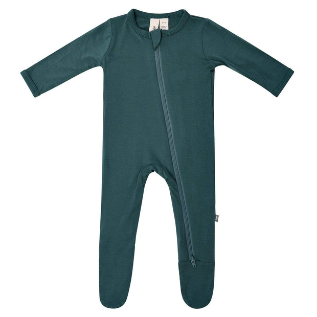 Bamboo Zippered Footie | Emerald, Footies, Kyte Baby - O&Lo
