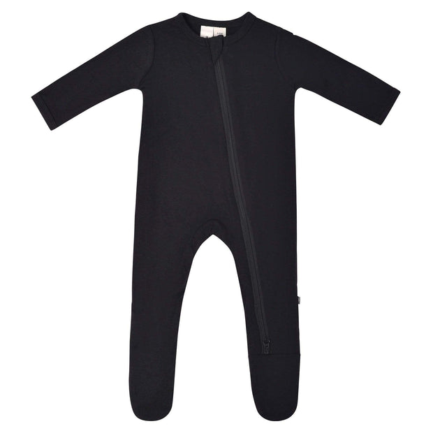 Bamboo Zippered Footie | Midnight, Footies, Kyte Baby - O&Lo