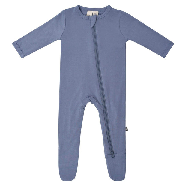 Bamboo Zippered Footie | Slate, Footies, Kyte Baby - O&Lo