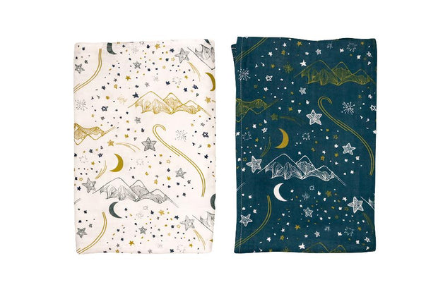 Bamboo Swaddle Blankies (2 Pack) | Stars, Swaddle Blankets, Nest Designs - O&Lo