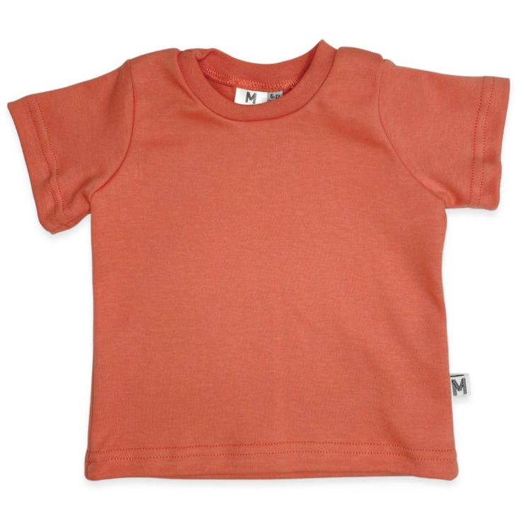 Crew Neck Tee | Apricot by My Mila